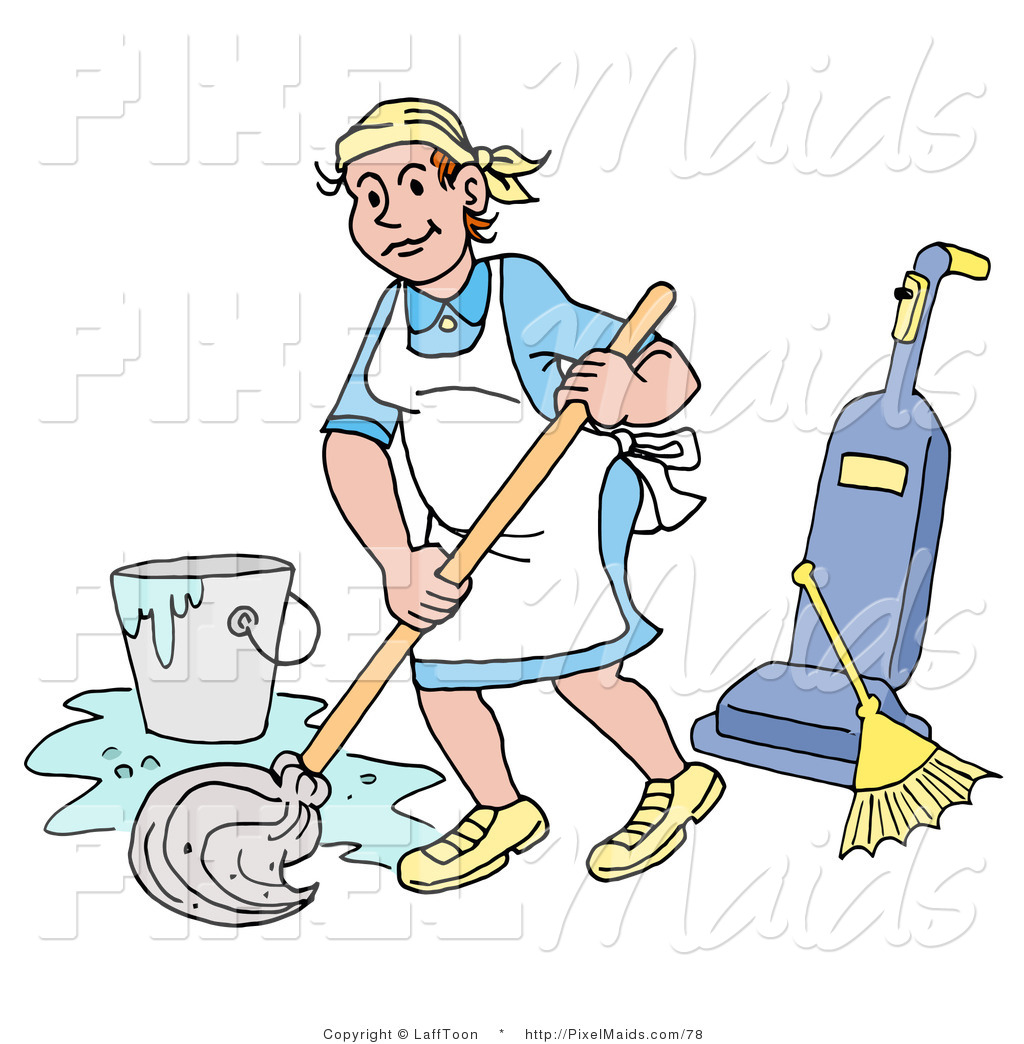 Women clipart janitor Woman Custodian Clipart House of