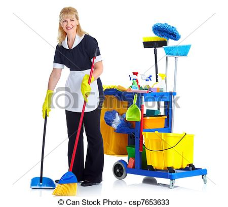 Women clipart janitor With Cleaner Cleaner maid woman