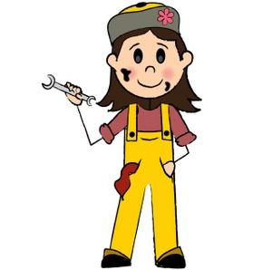 Women clipart mechanic #1