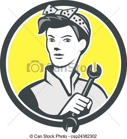 Women clipart mechanic Clipart of Mechanic Vector Female