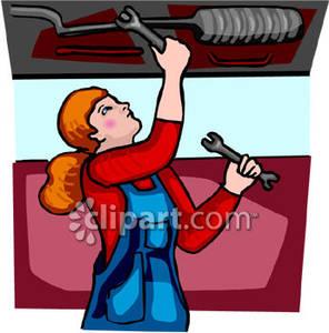 Women clipart mechanic #2