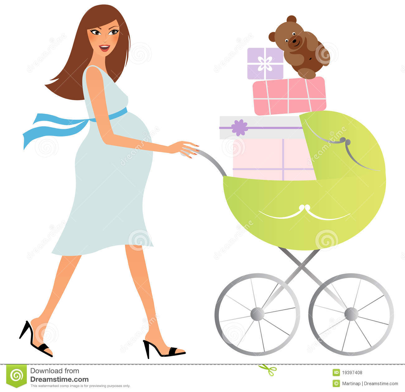Mommy clipart pregnant mom #2