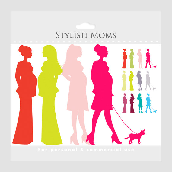Mommy clipart pregnant mom #5