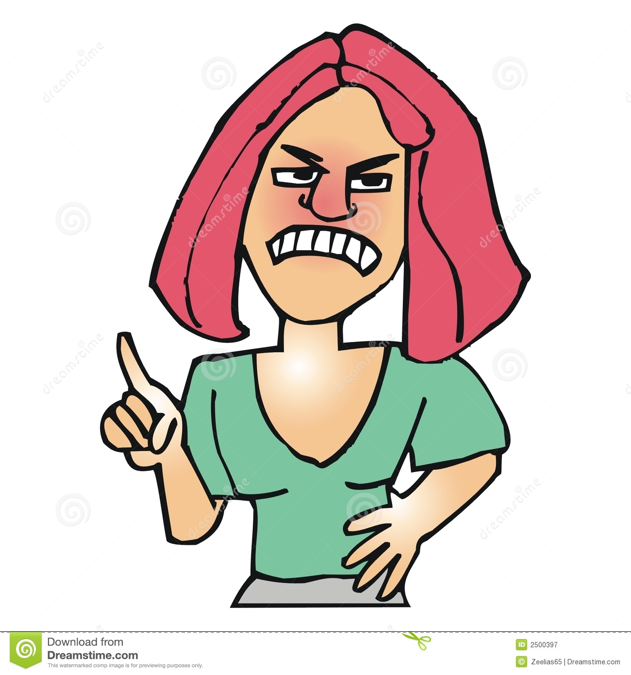 Caricature clipart angry baby Mom mom Clipart Mad