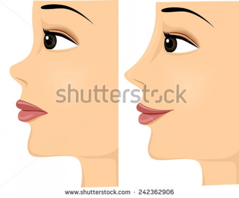 Woman clipart nose Side of in illustration view
