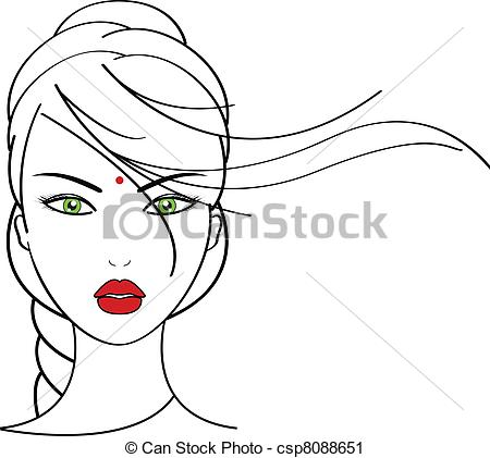 Woman clipart nose Vector of  illustration woman