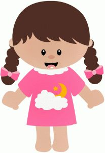 Teddy clipart kid pyjamas Purple pajamas clip My girl