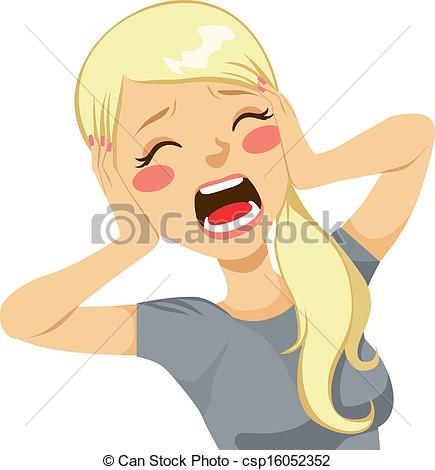 Women clipart panic Woman blonde csp16052352 Clipart Shocked