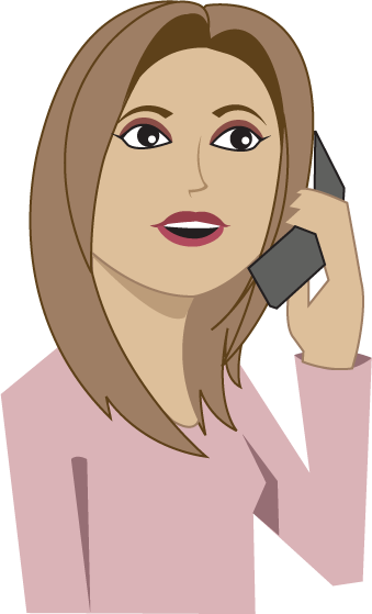 Women clipart phone call Phone On Phone Woman Woman