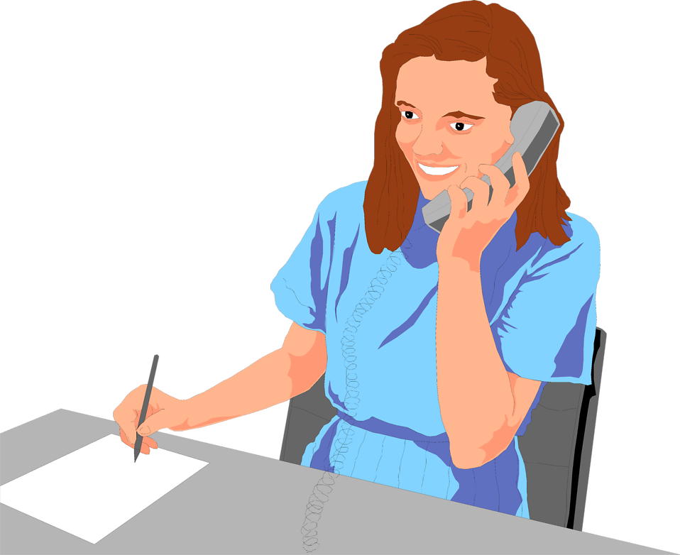 Women clipart phone call Phone the of Free Business