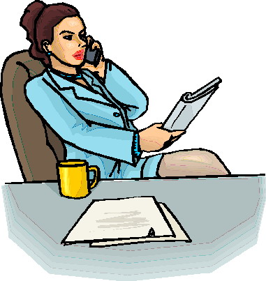 Women clipart phone call #8