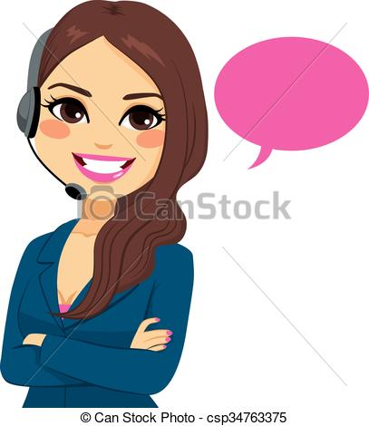 Women clipart phone call Illustration Vectors Call Operator Operator