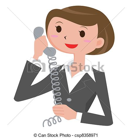 Women clipart phone call Vector Call Illustrations Call Vector