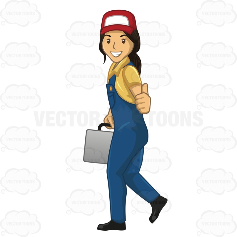 Woman clipart plumber Clipart Plumber Female Cartoon While