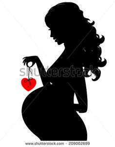 Woman clipart pregnent Illustration art a Clip of