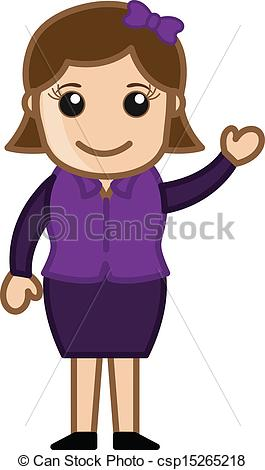 Woman clipart presenter Csp15265218 Presenter Cartoon Vector Presenter