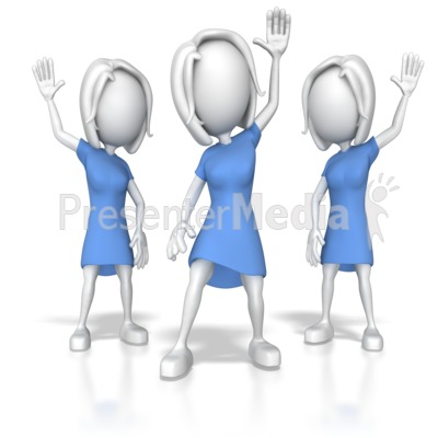 Women clipart presenter And Hands Clipart PowerPoint ID#