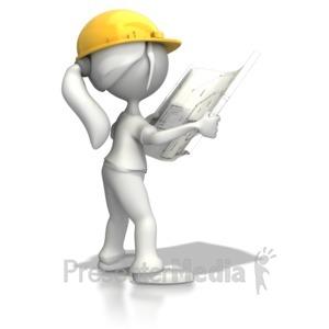 Women clipart presenter And Blueprints Clipart PowerPoint ID#