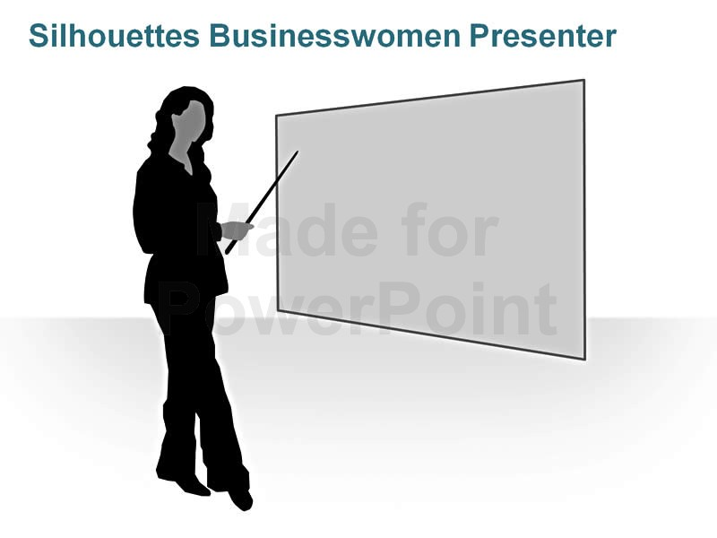 Woman clipart presenter Silhouettes Slides Business Business Women