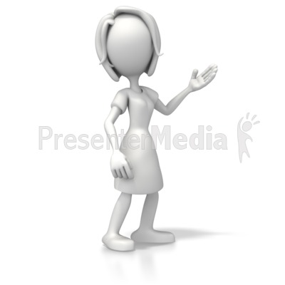 Woman clipart presenter Pose PowerPoint 3D 2 5399