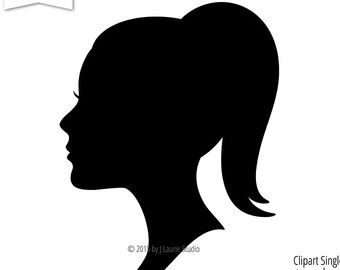 Woman clipart profile Side Profile silhouette women Clipart