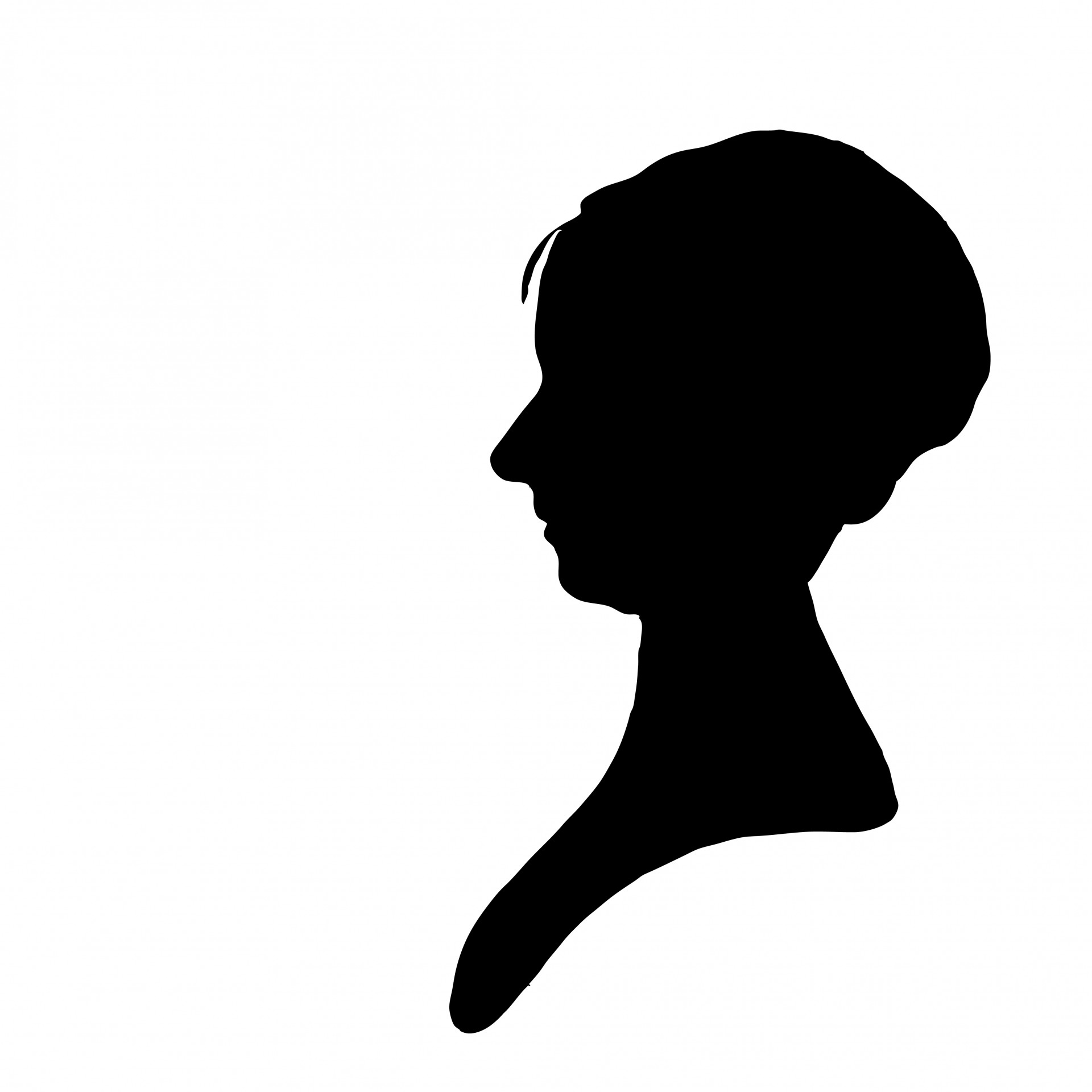 Woman clipart profile Stock Woman Profile Clipart