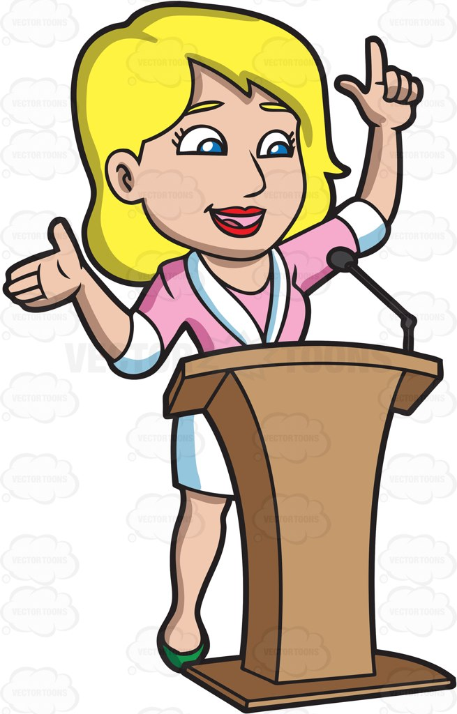 Women clipart public speaking #5