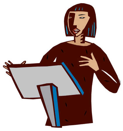 Women clipart public speaking #8