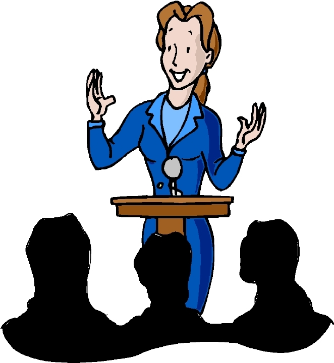 Women clipart public speaking #9