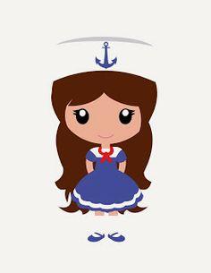 Women clipart sailor Nautical Apliques Print: KMILL_lighthouse Lighthouse