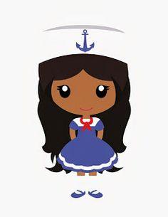 Women clipart sailor Nautical family Print: nautical !!