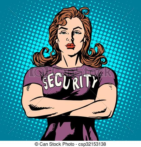 Woman clipart security guard Security security  woman woman
