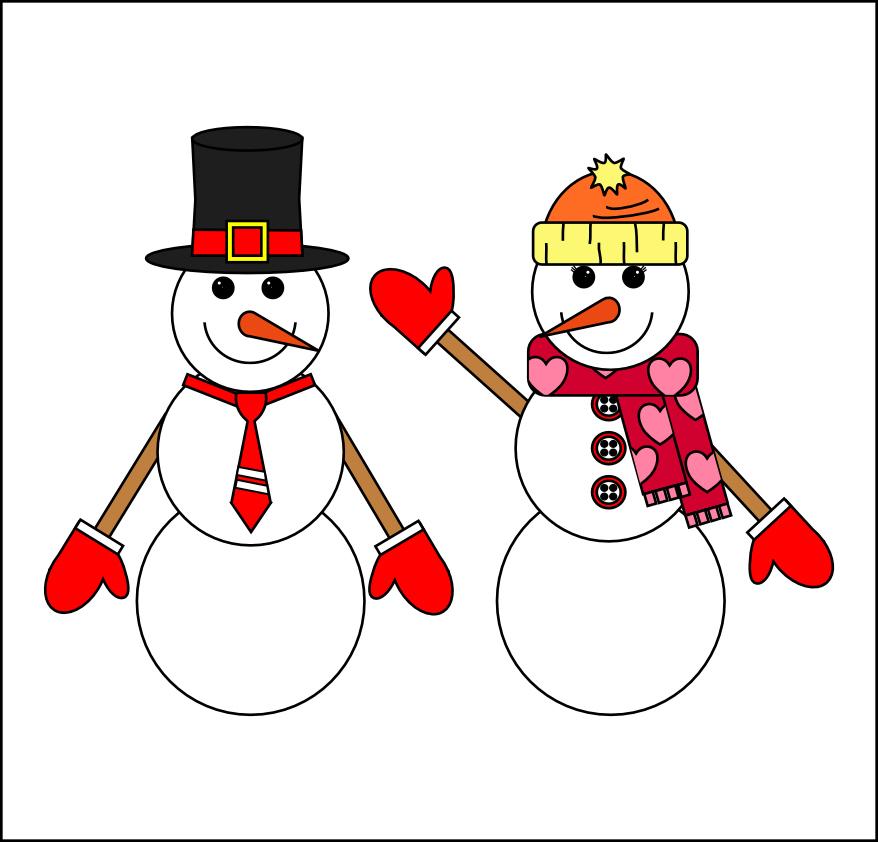 Woman clipart snowman 101 Woman Art – Snow
