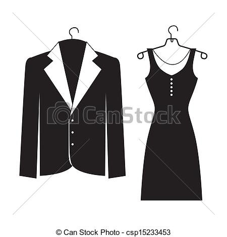 Suit clipart formal wear Over Clipart Vector background suits