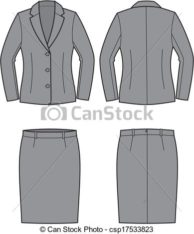 Coat clipart womens clothing Csp17533823  Vector of Business