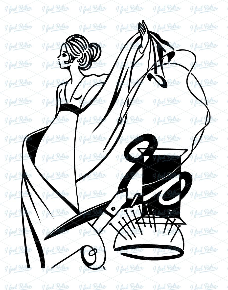 Women clipart tailor #10