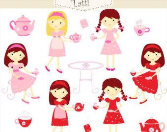 Tea Party clipart women's Clipart Download Clipart Party Tea
