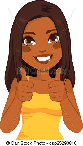Brown clipart thumbs up  Clip African Thumbs Up
