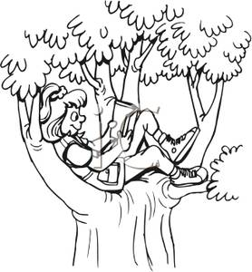 Woman clipart tree Reading tree clipart Under Book