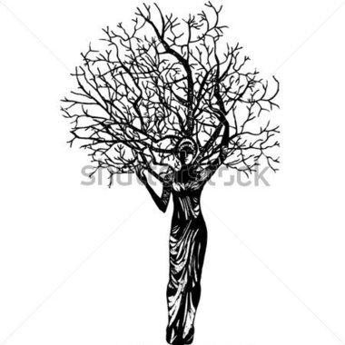 Woman clipart tree Women  imagem vetorial Gráfico