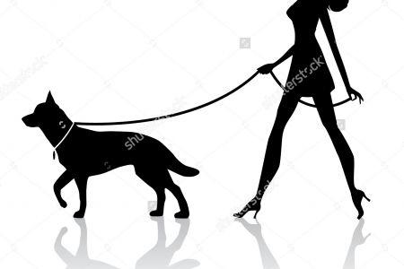 Women clipart walking dog Woman Silhouette Running woman walking