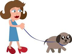 Women clipart walking dog Collections Clipart walking dog Woman
