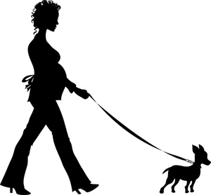 Woman clipart walking dog Dog Walking Walking Chihuahua Woman