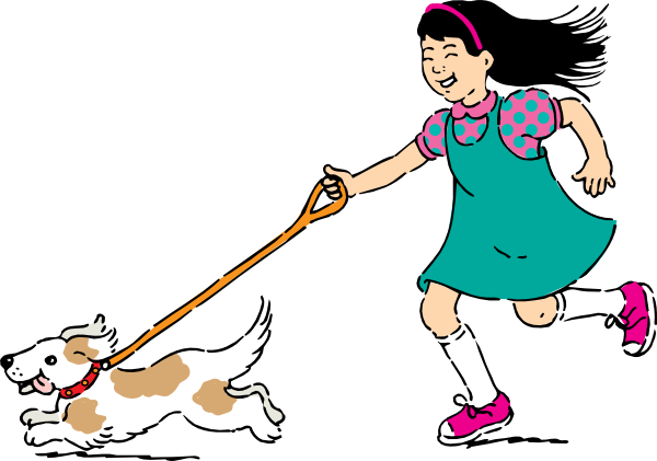 Woman clipart walking dog Walking  Clip online com