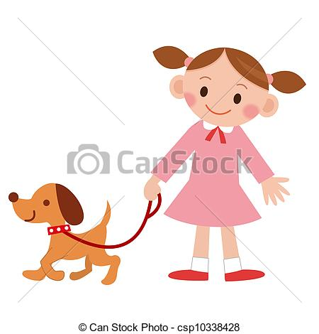 Woman clipart walking dog Art walker  Animals Dog
