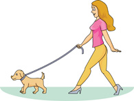 Woman clipart walking dog  Size: walking Kb for