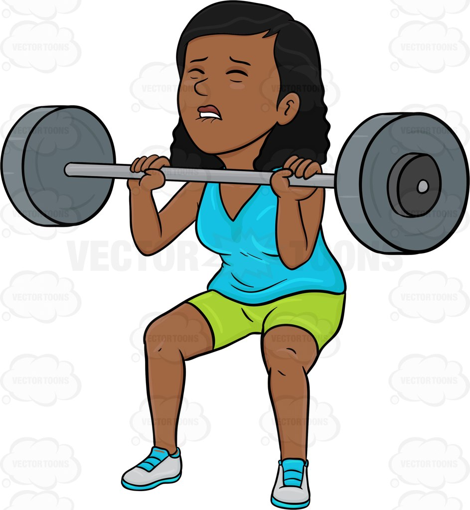 Woman clipart weight Dark Woman Cartoon Dark Barbell