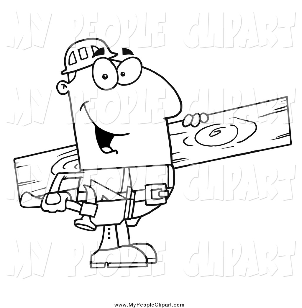Wood clipart carpenter Happy of White Clip of
