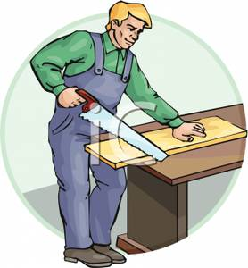 Wood clipart carpenter A Image: Clipart Image: Sawing
