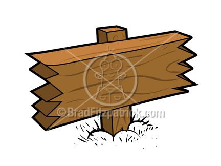Wood clipart cartoon Sign Blank Wood Clipart Royalty